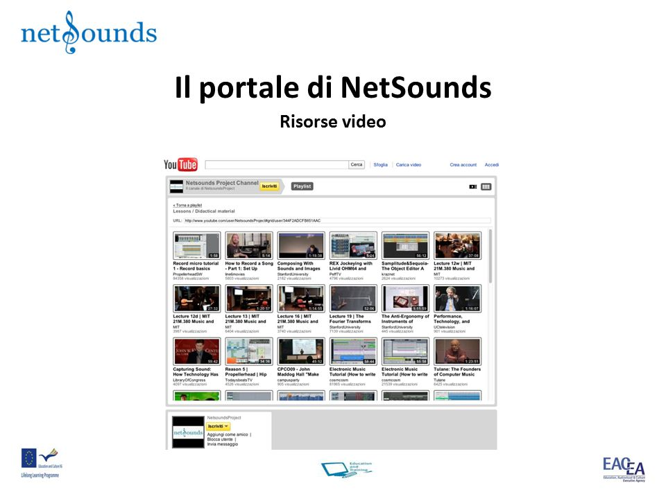 Il portale di NetSounds Risorse video