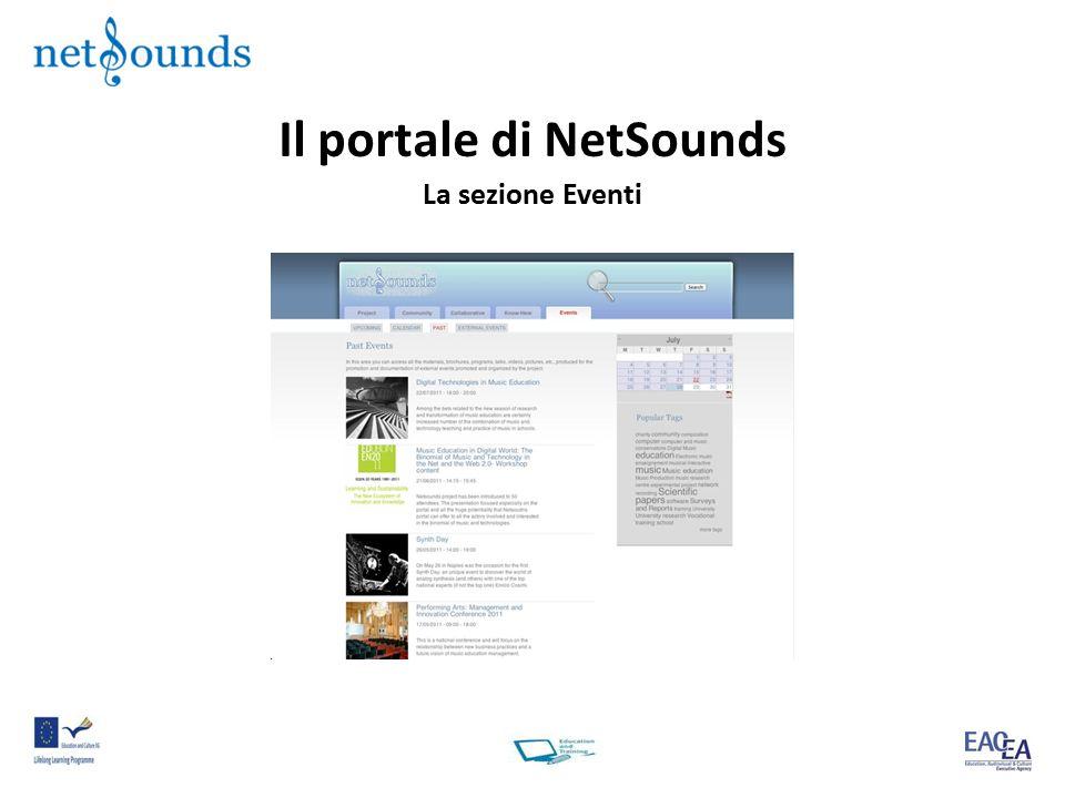 Il portale di NetSounds La sezione Eventi
