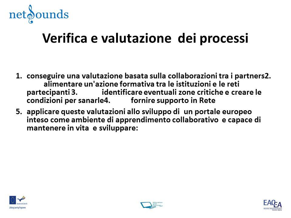 Verifica e valutazione dei processi 1.conseguire una valutazione basata sulla collaborazioni tra i partners2.