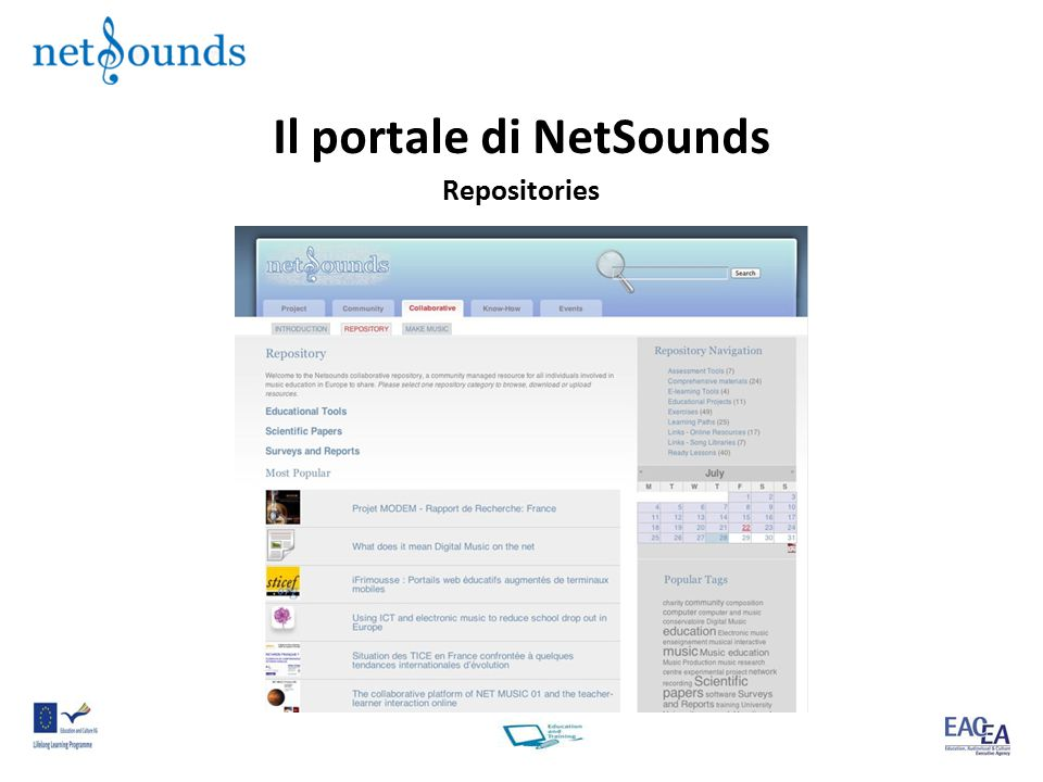 Il portale di NetSounds Repositories