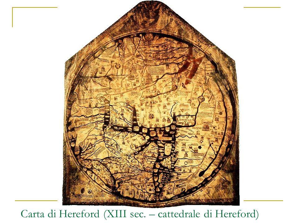 Carta di Hereford (XIII sec. – cattedrale di Hereford)