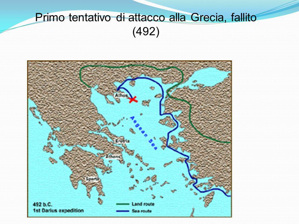 Primo tentativo di attacco alla Grecia, fallito (492)