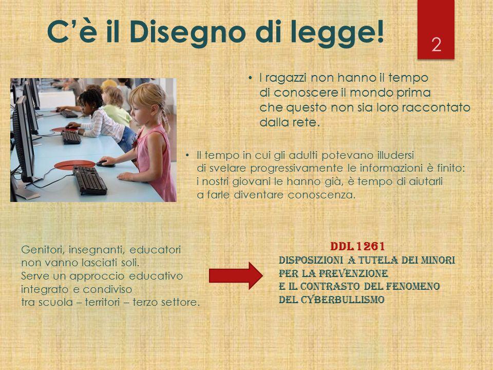 C'è il Disegno di legge! Genitori, insegnanti, educatori non vanno lasciati soli. Serve un approccio educativo integrato e condiviso tra scuola – terr
