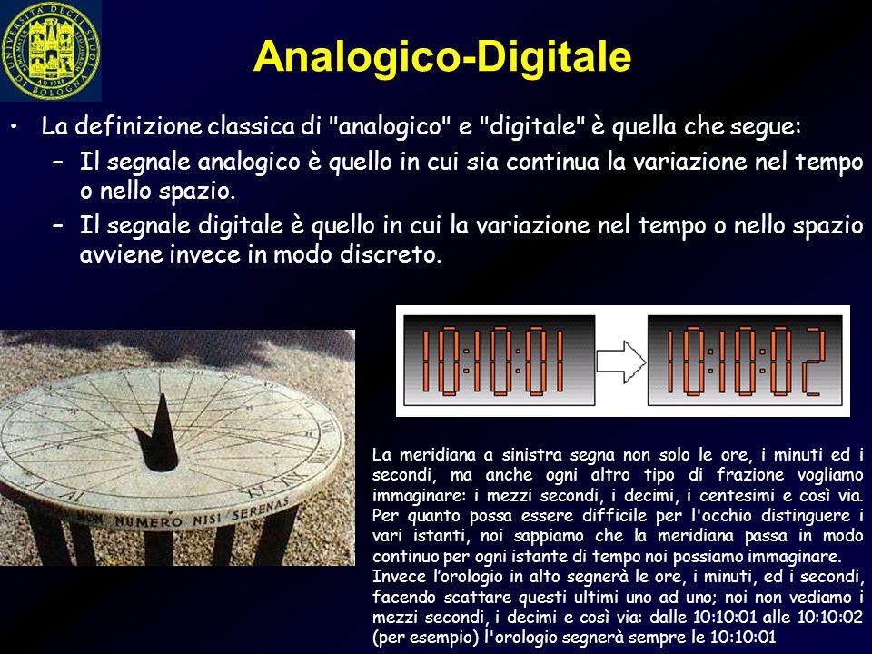 Analogico-Digitale La definizione classica di