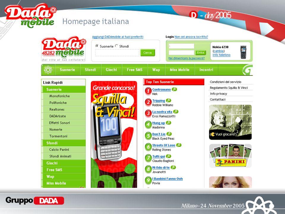 Homepage italiana