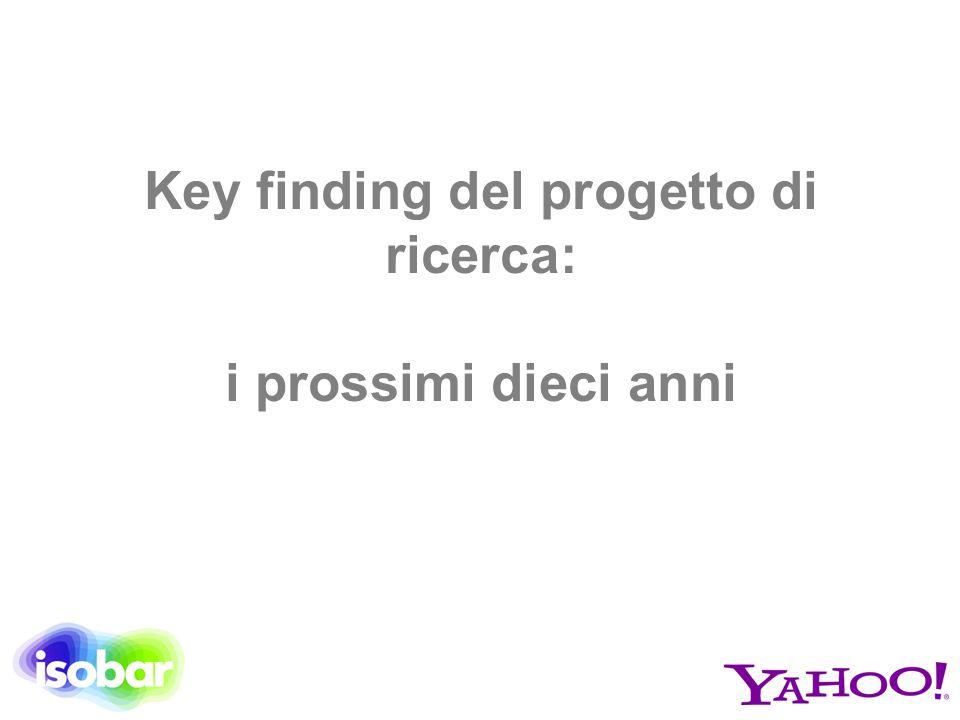 Key finding del progetto di ricerca: i prossimi dieci anni
