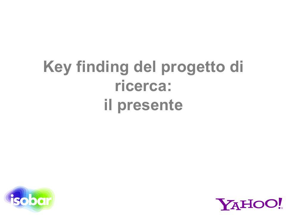 Key finding del progetto di ricerca: il presente