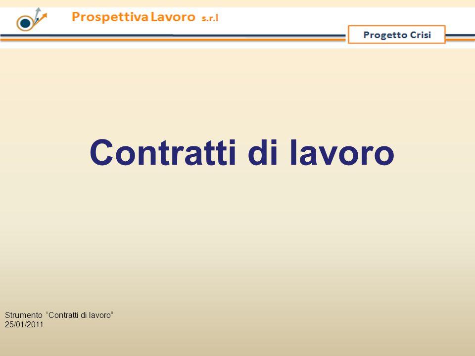 """Contratti di lavoro Strumento """"Contratti di lavoro"""" 25/01/2011"""