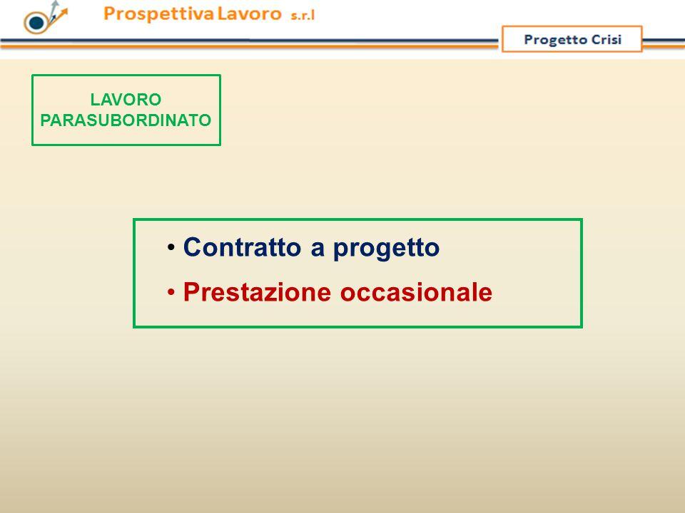 Contratto a progetto Prestazione occasionale LAVORO PARASUBORDINATO