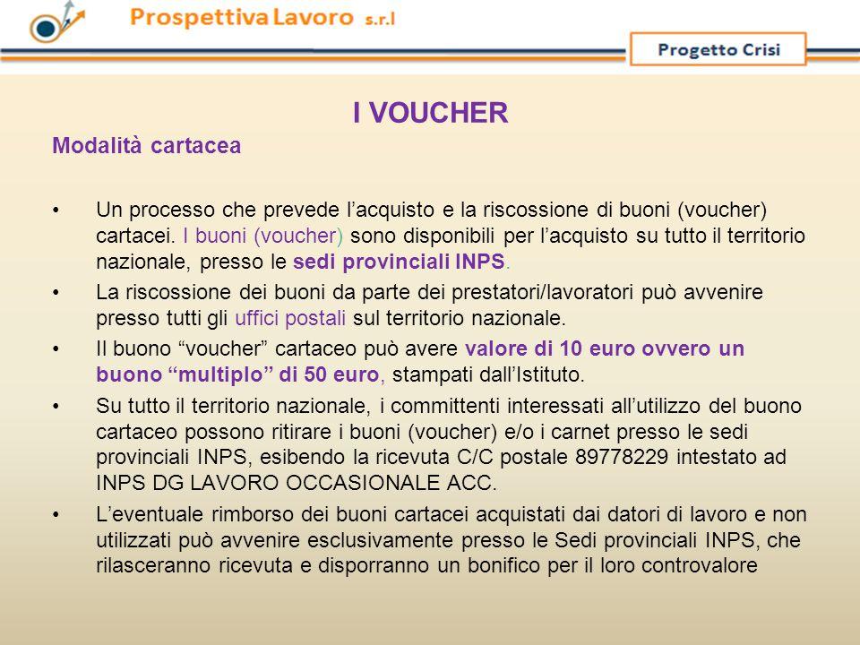 I VOUCHER Modalità cartacea Un processo che prevede l'acquisto e la riscossione di buoni (voucher) cartacei. I buoni (voucher) sono disponibili per l'