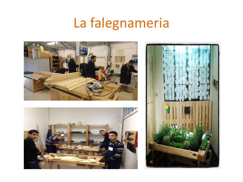 Il laboratorio di falegnameria Il laboratorio di falegnameria è inserito nelle ore curriculari ed è gestito da un artigiano con esperienza nell'insegnamento.