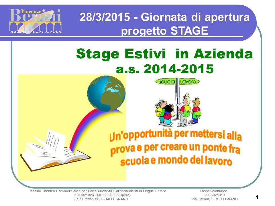 11 28/3/2015 - Giornata di apertura progetto STAGE Stage Estivi in Azienda a.s.