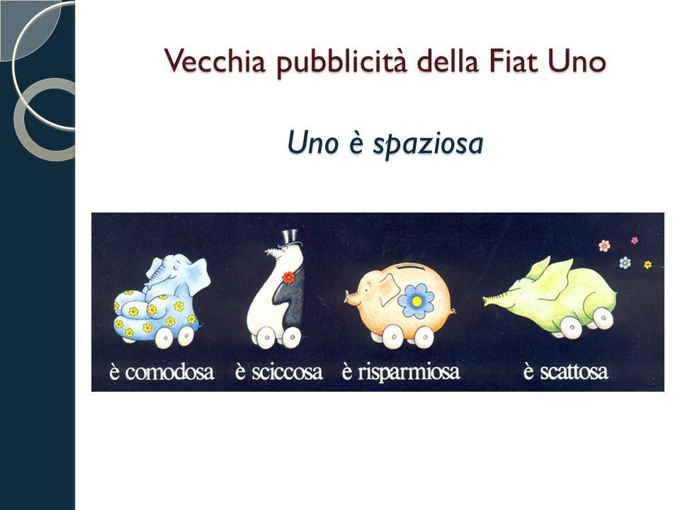Vecchia pubblicità della Fiat Uno Uno è spaziosa