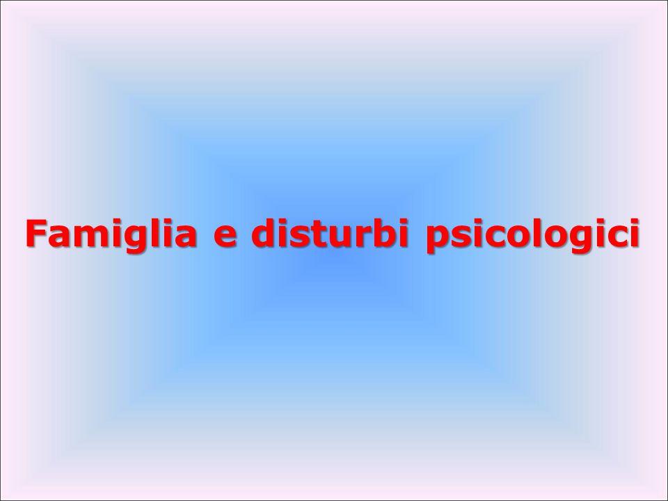 Famiglia e disturbi psicologici
