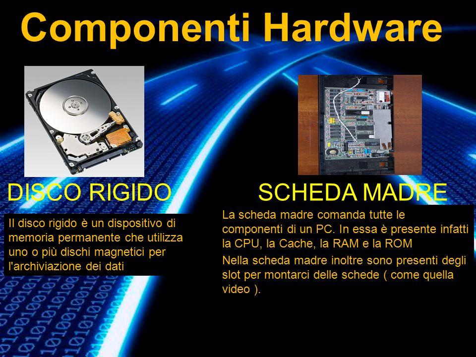 Il disco rigido è un dispositivo di memoria permanente che utilizza uno o più dischi magnetici per l'archiviazione dei dati DISCO RIGIDO La scheda mad