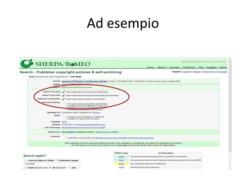 Cosa succede se l'editore non prevede alcuna forma di accesso aperto per nessuna versione del lavoro di ricerca.