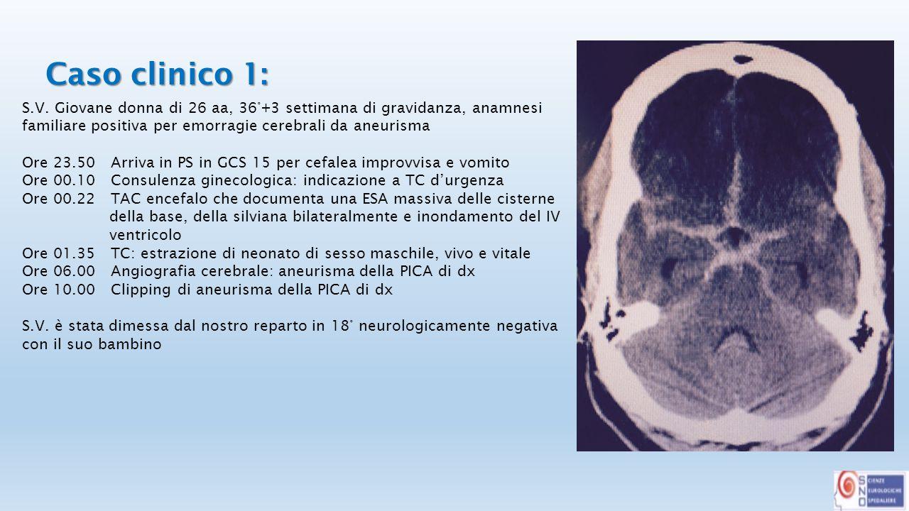 Caso clinico 1: Caso clinico 1: S.V.