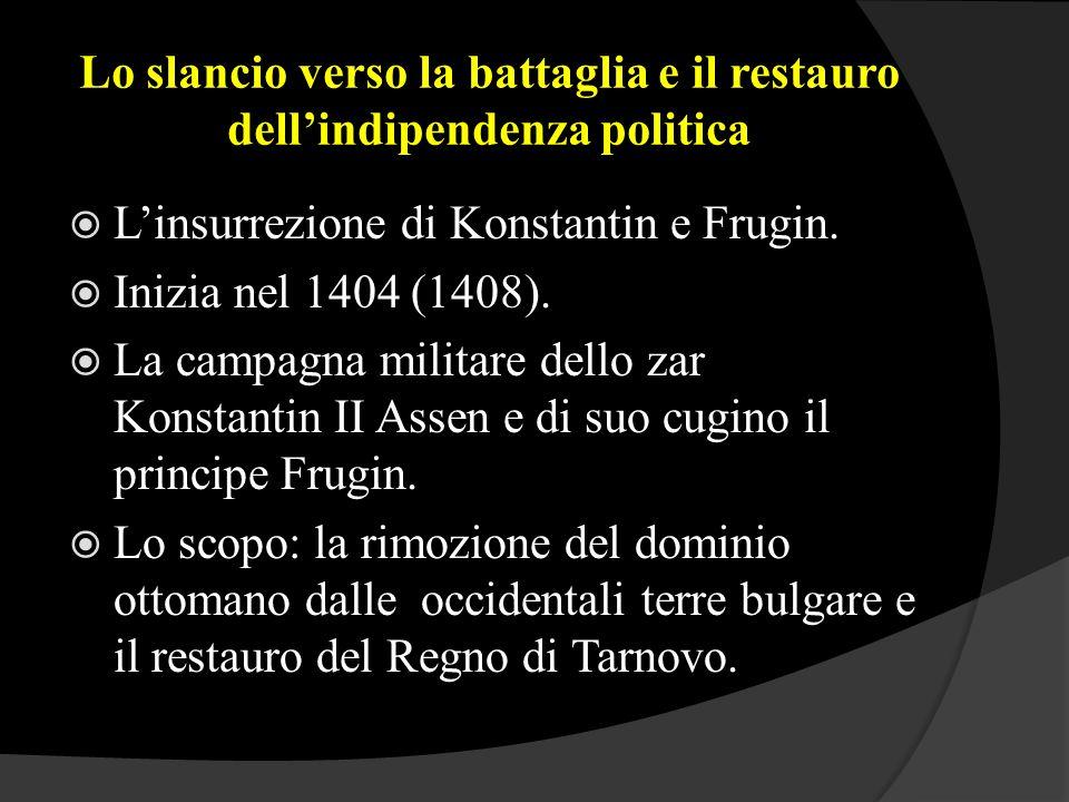 Lo slancio verso la battaglia e il restauro dell'indipendenza politica  L'insurrezione di Konstantin e Frugin.  Inizia nel 1404 (1408).  La campagn