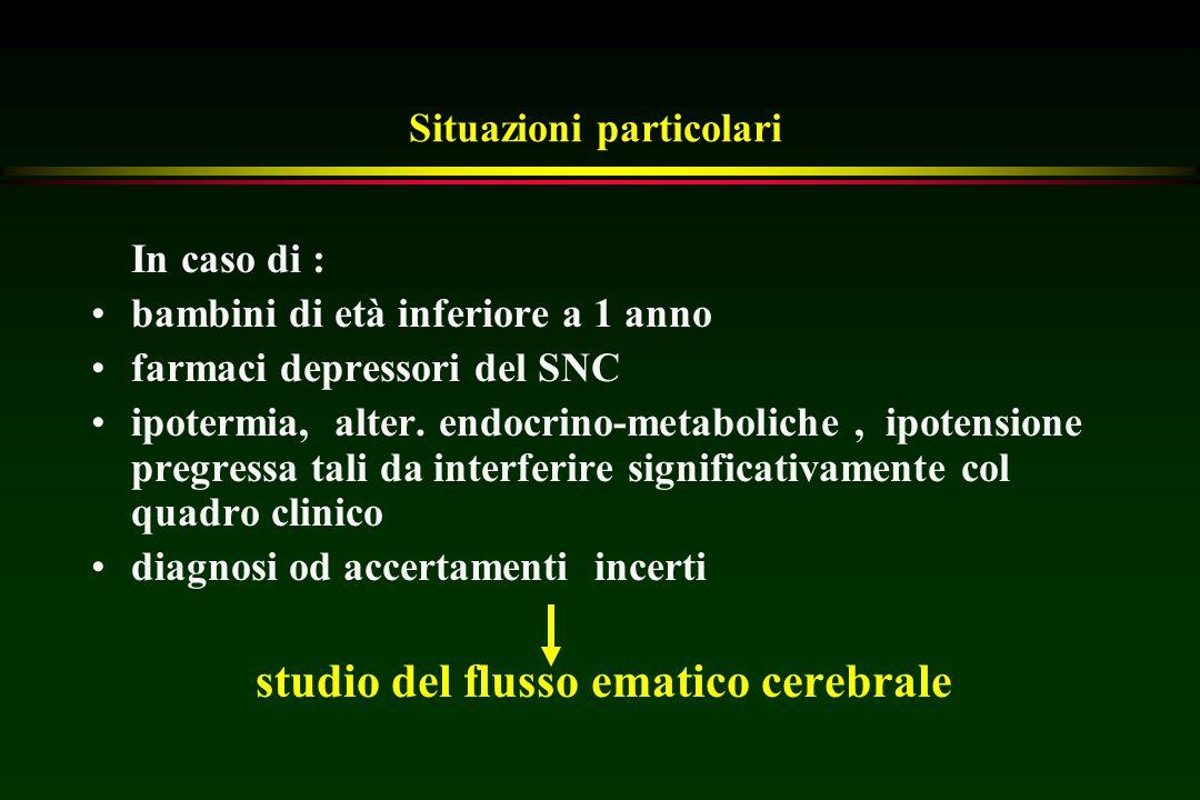 Situazioni particolari In caso di : bambini di età inferiore a 1 anno farmaci depressori del SNC ipotermia, alter. endocrino-metaboliche, ipotensione