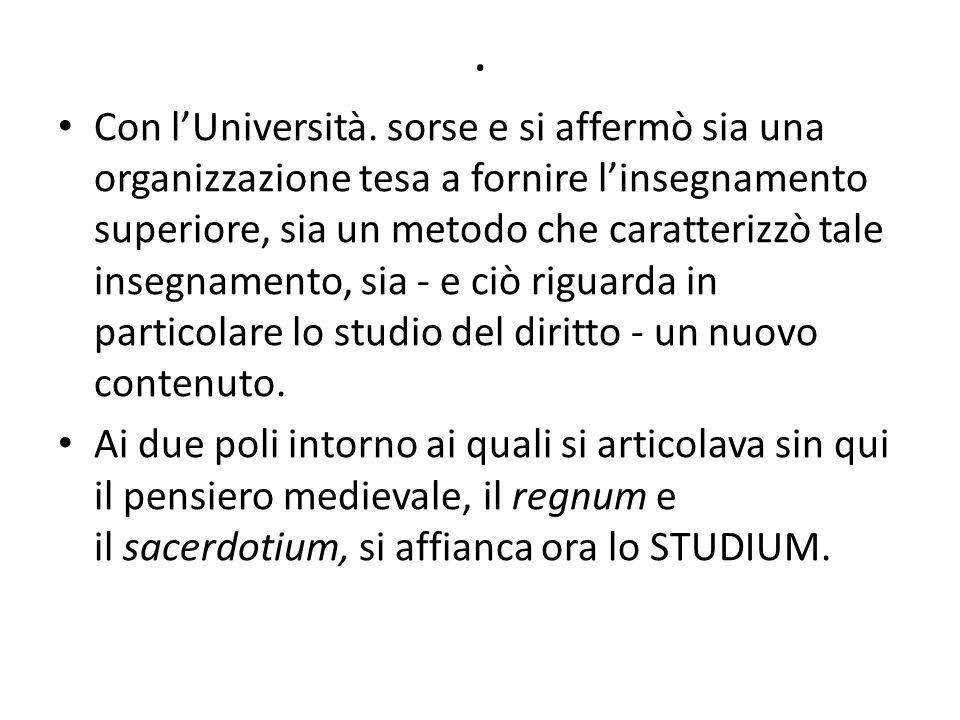 Con l'Università.