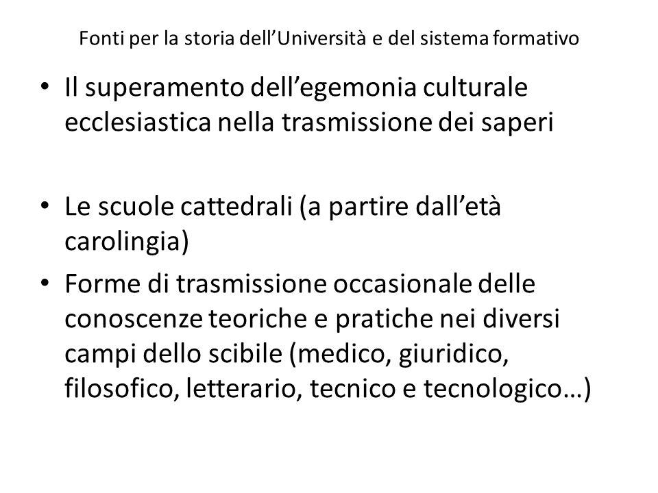 c) la giurisdizione sugli scolari poteva essere esercitata, a scelta degli stessi, dai loro propri maestri o dalla corte vescovile[71].
