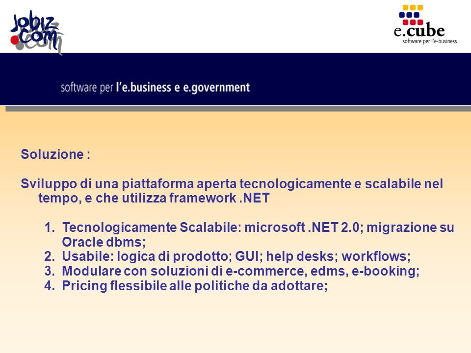 da CMS ad ECMS: E-commerce; E-dms; E-marketing; E-fidelity; E-reports; E-marketplace; E-recruiting; ……altri moduli