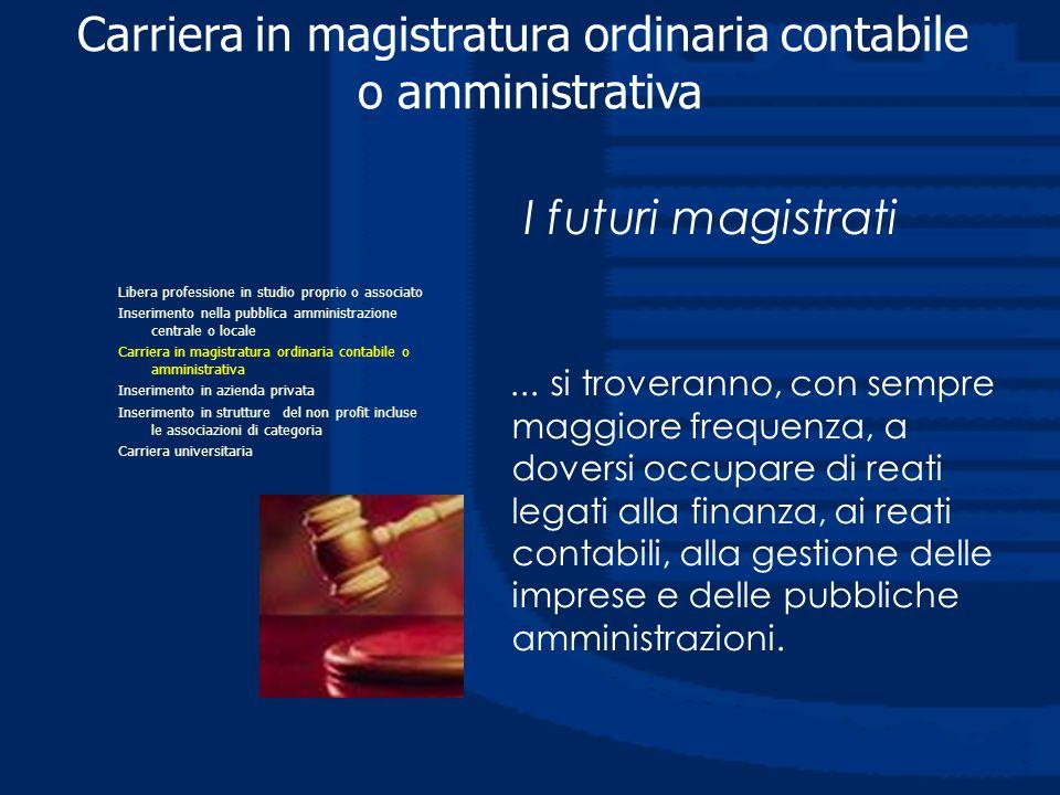 I futuri magistrati... si troveranno, con sempre maggiore frequenza, a doversi occupare di reati legati alla finanza, ai reati contabili, alla gestion