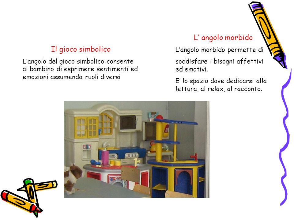 Il gioco creativo L'angolo del gioco creativo permette al bambino di comunicare, socializzare, sviluppare la fantasia e la conoscenza.
