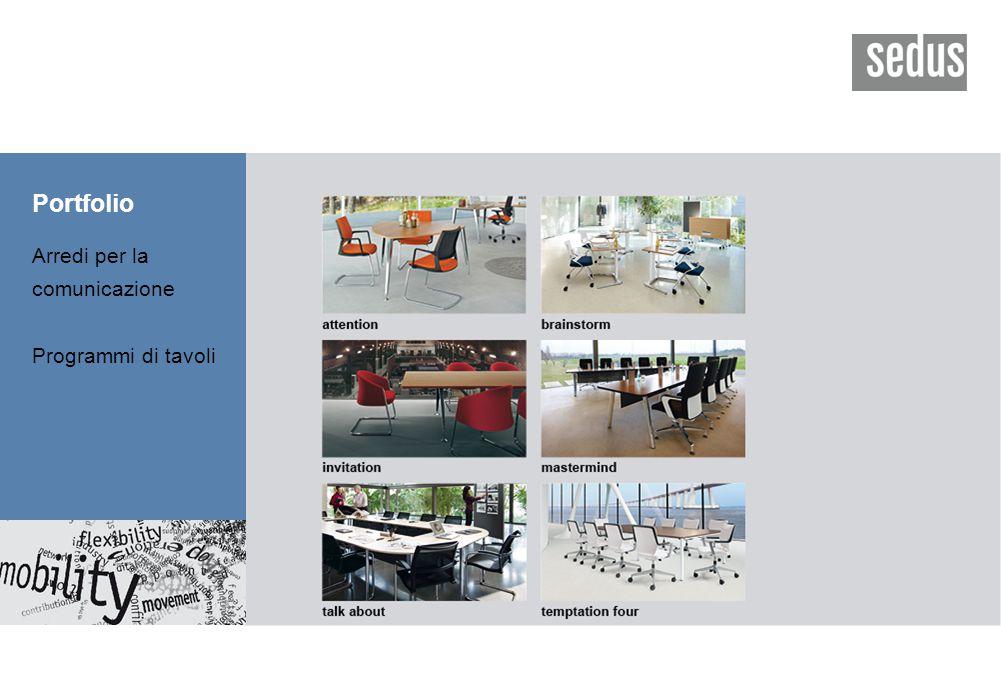 Portfolio Arredi per la comunicazione Programmi di tavoli