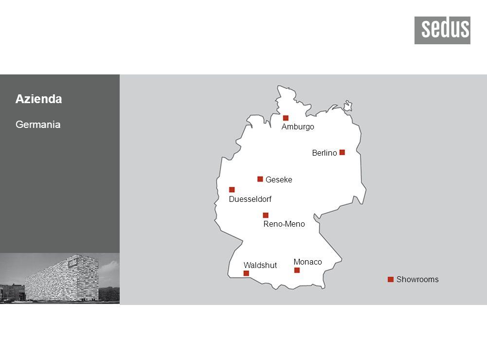 Azienda Germania Berlino Duesseldorf Reno-Meno Waldshut Monaco Amburgo Geseke Showrooms