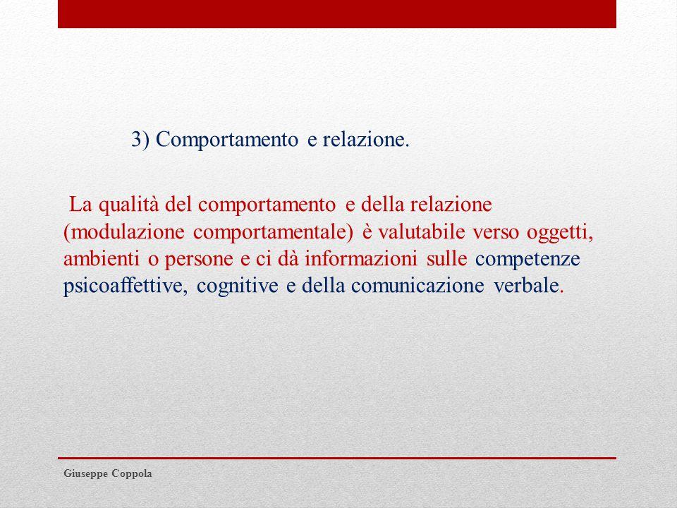 3) Comportamento e relazione.