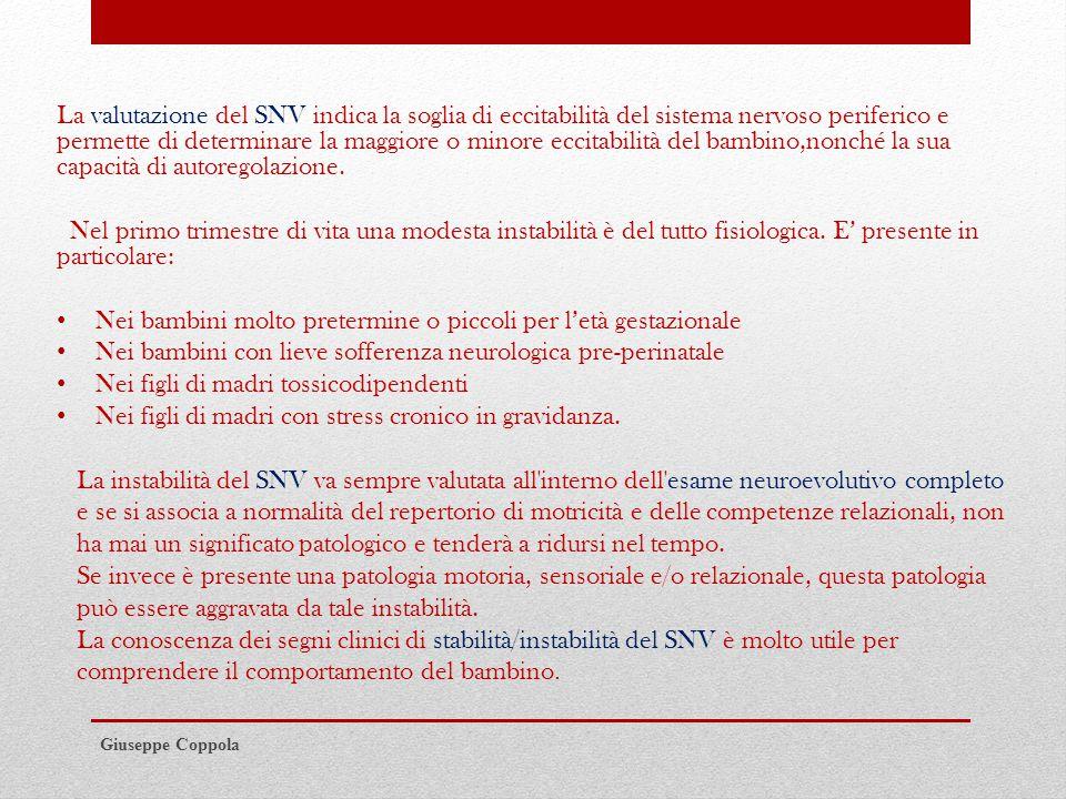 2) Motricità E' la funzione prioritaria del SNC, specie ad età precoci dello sviluppo.