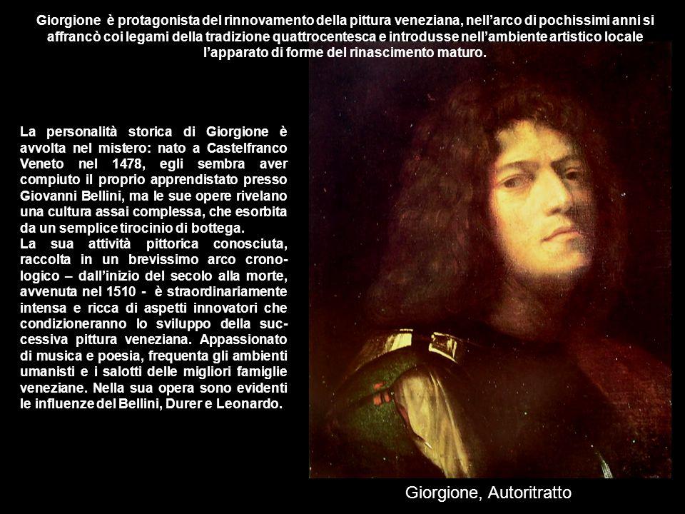Giorgione è protagonista del rinnovamento della pittura veneziana, nell'arco di pochissimi anni si affrancò coi legami della tradizione quattrocentesc