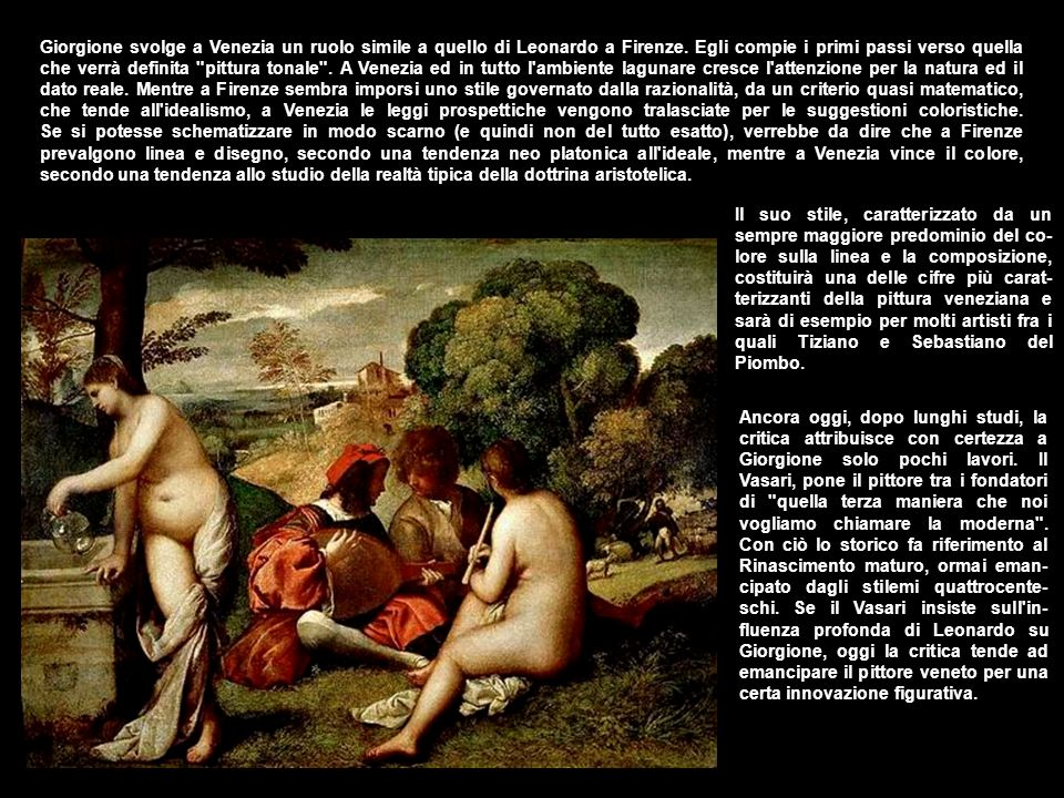 Delle opere giovanili di certa attribuzione, la più celebre è la Madonna con bambino fra i Santi Liberale e Francesco , detta Pala di Castelfranco .