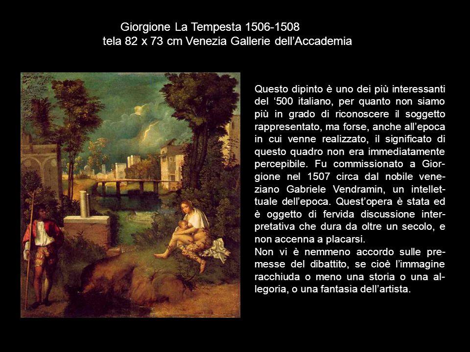 Questo dipinto è uno dei più interessanti del '500 italiano, per quanto non siamo più in grado di riconoscere il soggetto rappresentato, ma forse, anc