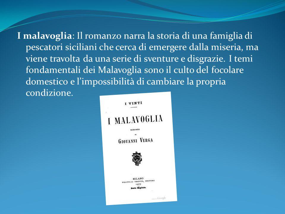 I malavoglia: Il romanzo narra la storia di una famiglia di pescatori siciliani che cerca di emergere dalla miseria, ma viene travolta da una serie di