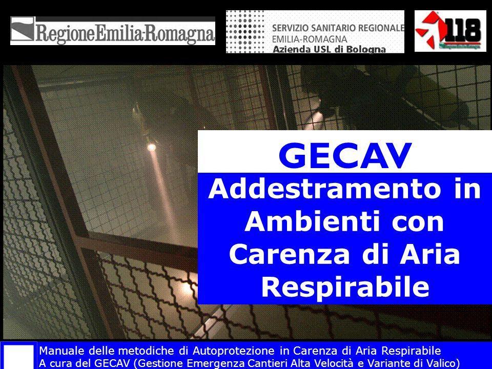 Addestramento in Ambienti con Carenza di Aria Respirabile GECAV Manuale delle metodiche di Autoprotezione in Carenza di Aria Respirabile A cura del GE