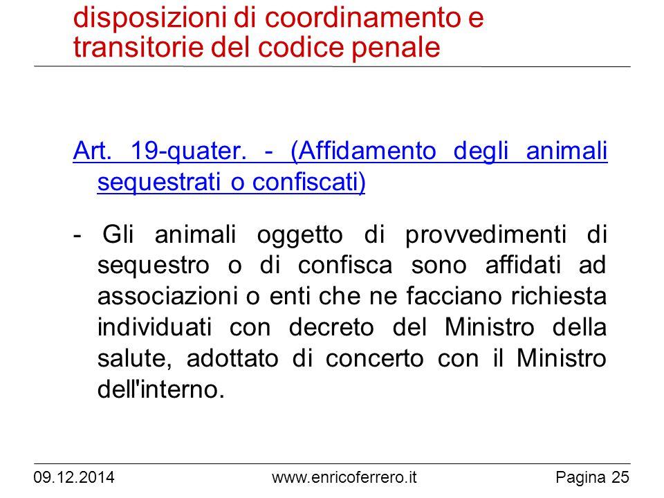 www.enricoferrero.it disposizioni di coordinamento e transitorie del codice penale Art.