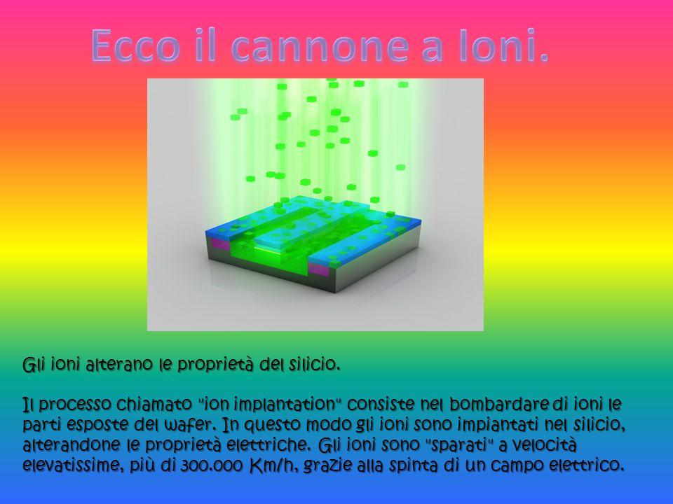 Gli ioni alterano le proprietà del silicio. Il processo chiamato