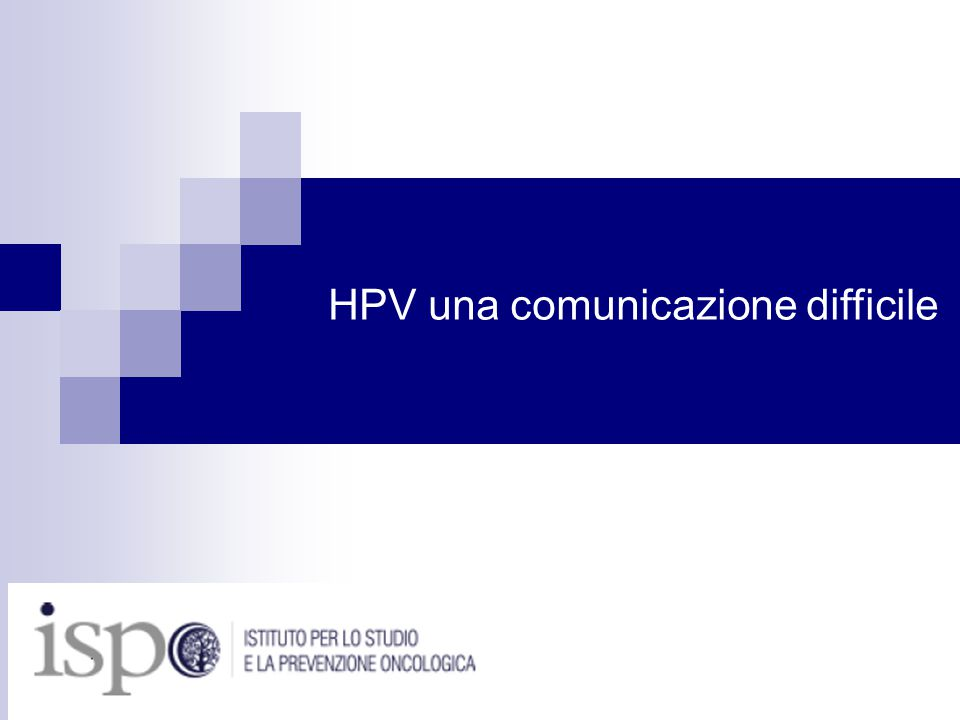 HPV una comunicazione difficile