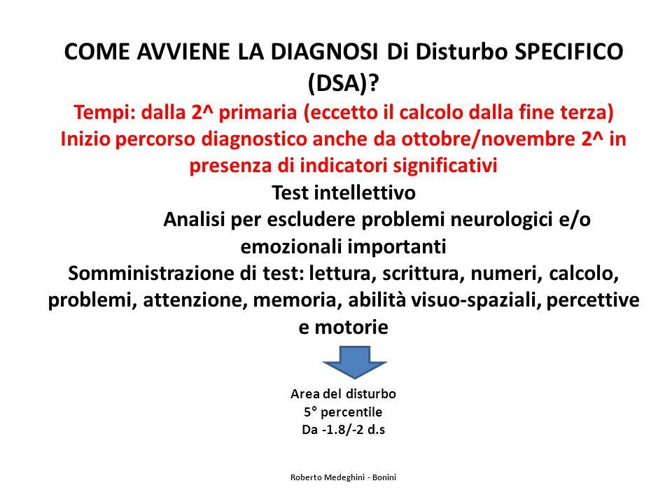 COME AVVIENE LA DIAGNOSI Di Disturbo SPECIFICO (DSA).