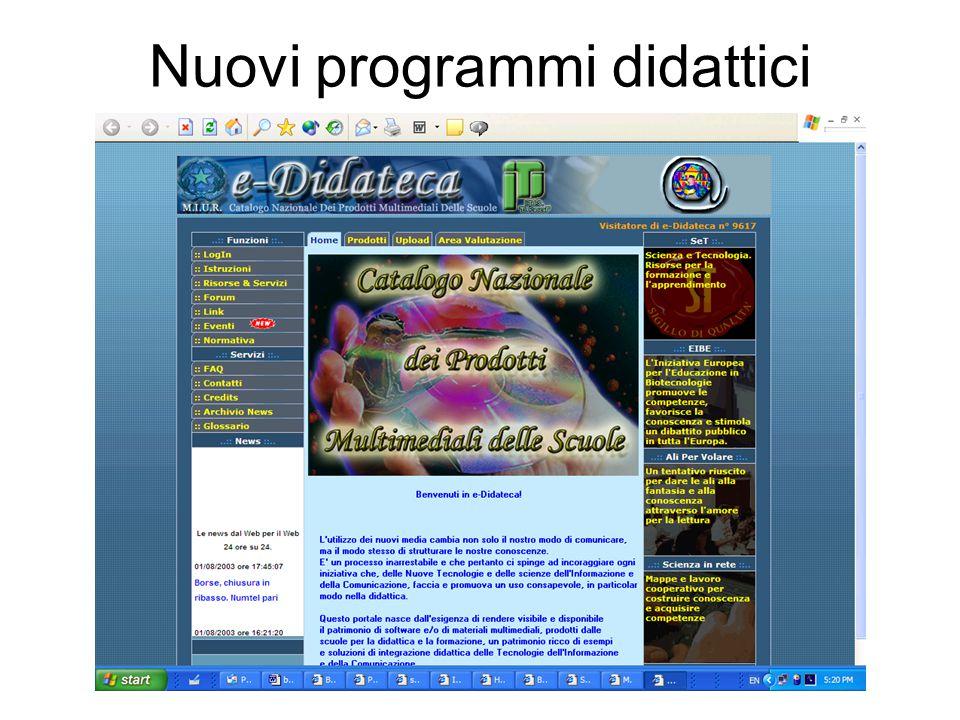 Nuovi programmi didattici