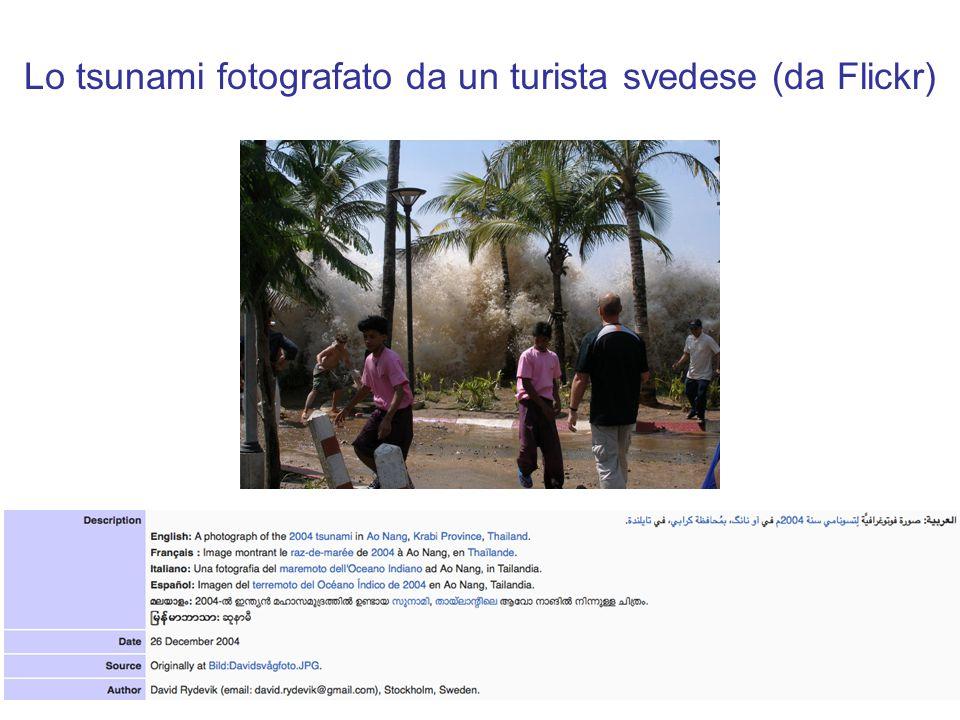 Lo tsunami fotografato da un turista svedese (da Flickr)
