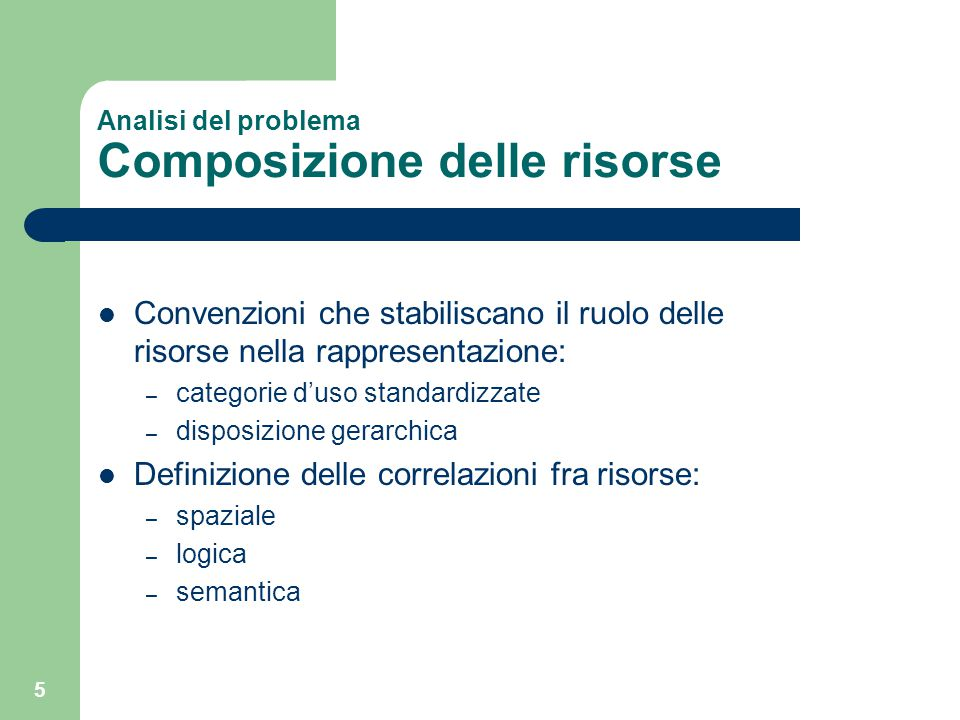 16 Analisi del problema Criteri di filtro Primo criterio di filtro for each (template) for each (type) template.penalty += | numResInput(type) – numResTemplate(type) | Secondo criterio di filtro for each (template) for each (type) template.penalty += | numCategoryResMatched(type) – numCategoryResTemplate(type) | Criteri di filtro sugli stylesheet – precedente scelta del template – informazioni derivanti dai profili