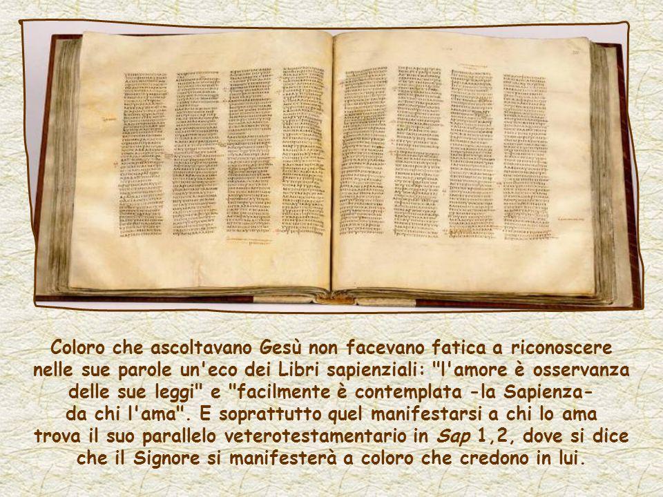 Nell ultimo discorso di Gesù, l amore è al centro: l amore del Padre per il Figlio, l amore per Gesù che è osservanza dei suoi comandamenti.