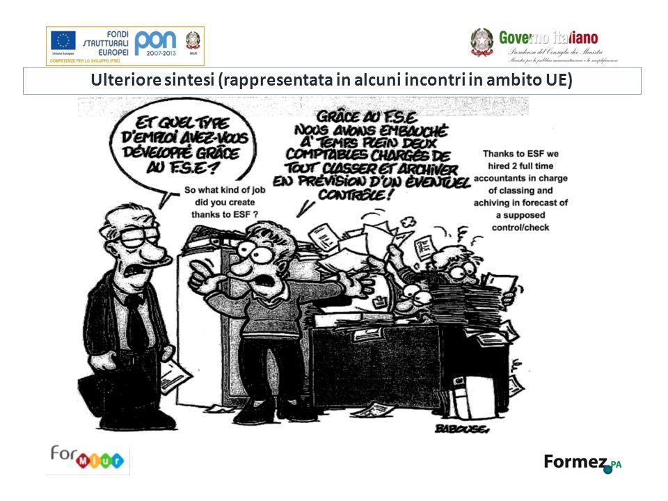 Ulteriore sintesi (rappresentata in alcuni incontri in ambito UE)