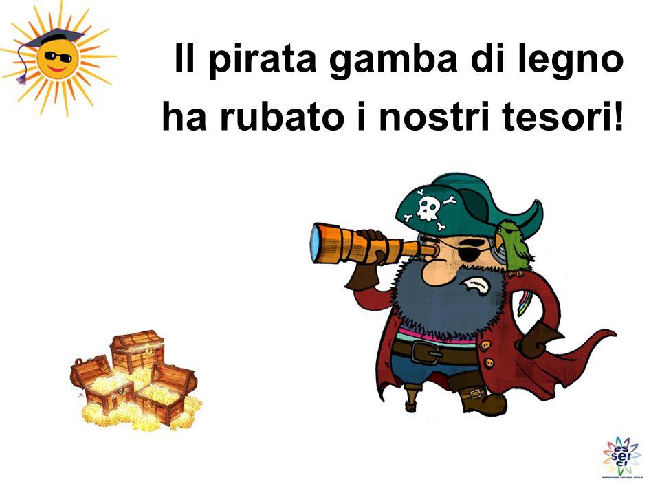 Il pirata gamba di legno ha rubato i nostri tesori!