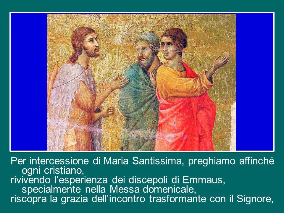 Sempre, cari fratelli e sorelle, la Parola di Dio e l'Eucaristia ci riempiono di gioia.