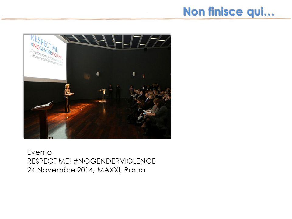 Non finisce qui… Evento RESPECT ME! #NOGENDERVIOLENCE 24 Novembre 2014, MAXXI, Roma