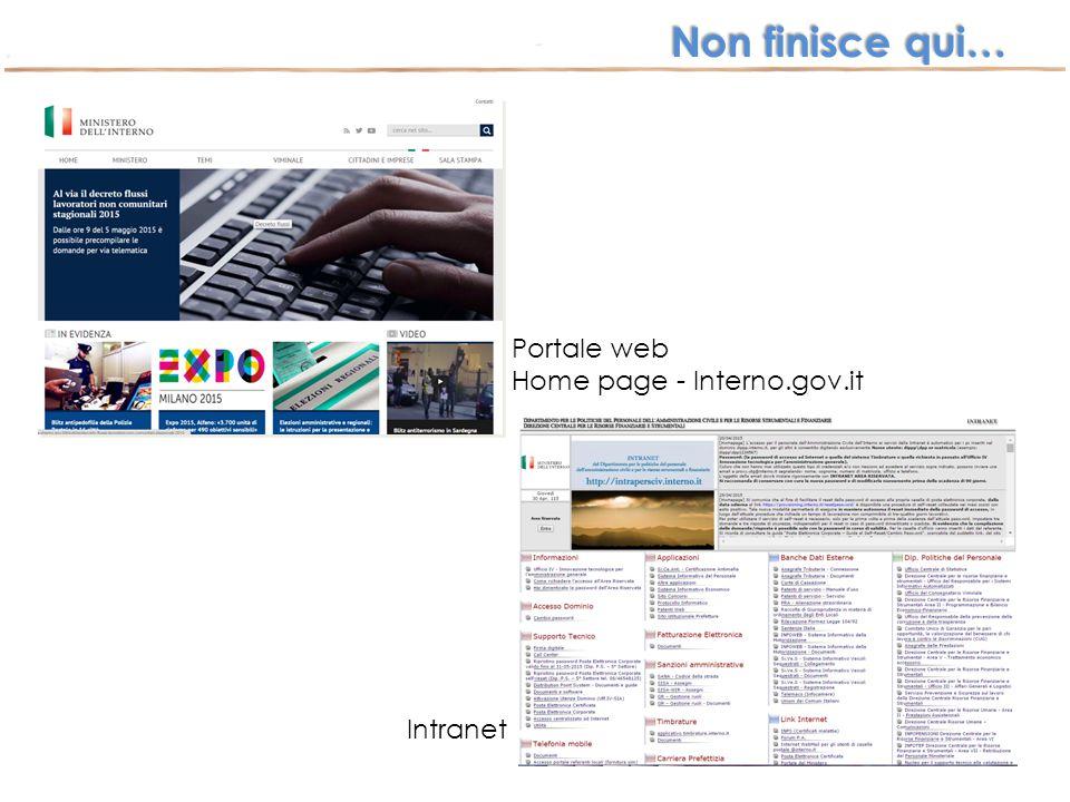 Portale web Home page - Interno.gov.it Intranet Non finisce qui…